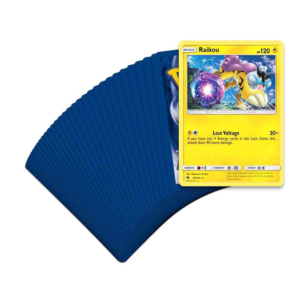 Deck Pokemon Raikou Sol e Lua 8 Trovões Perdidos