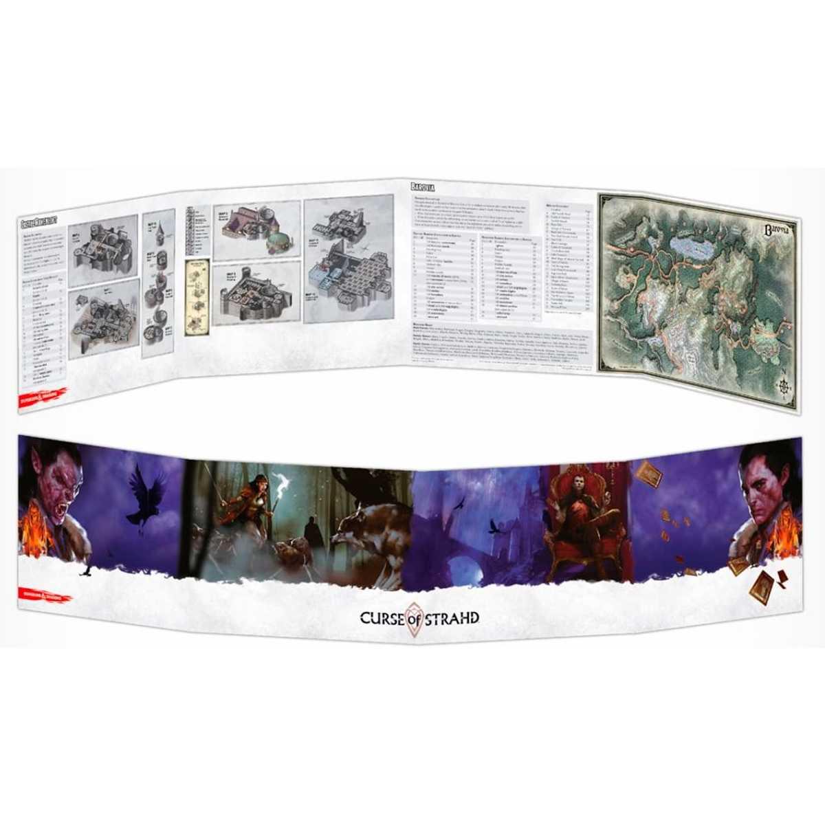 Dungeon Dragons Masters Screen - Escudo do Mestre: A Maldição de Strahd