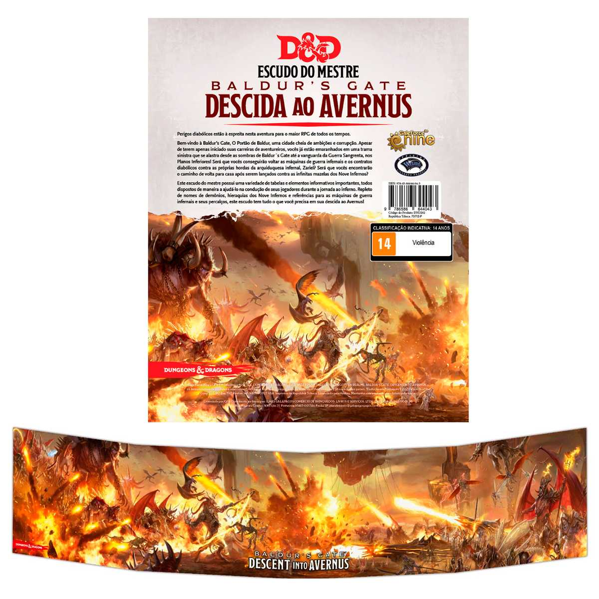 Dungeon Dragons Masters Screen - Escudo do Mestre: Descida ao Avernus