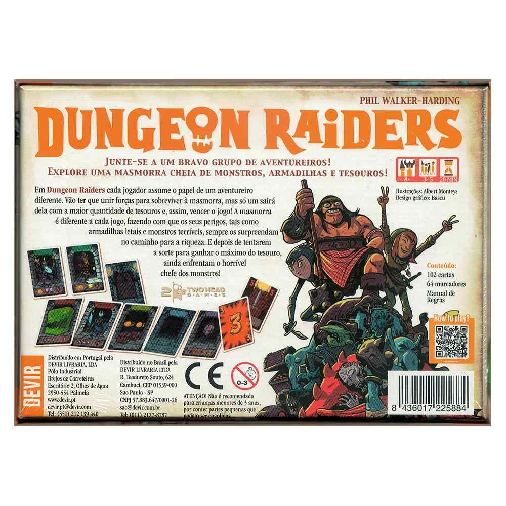 Dungeon Raiders Jogo de Cartas Devir