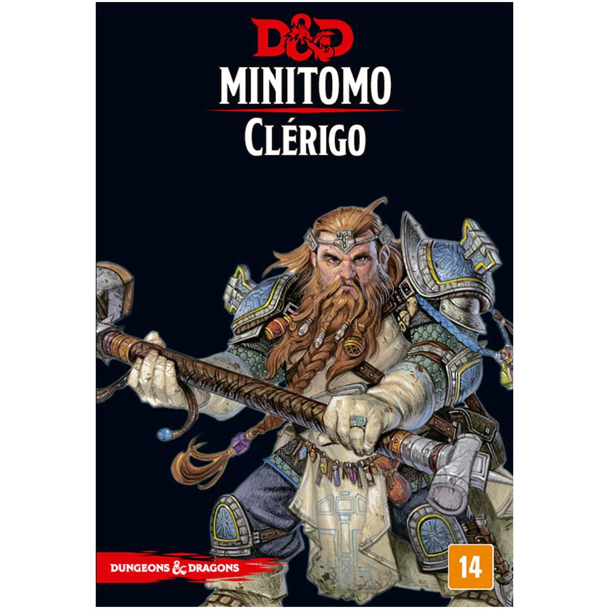 Dungeons and Dragons Minitomo Clérigo Deck RPG