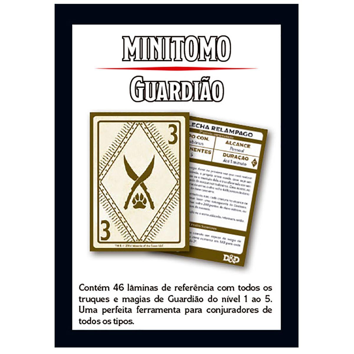 Dungeons and Dragons Minitomo Guardião Deck RPG
