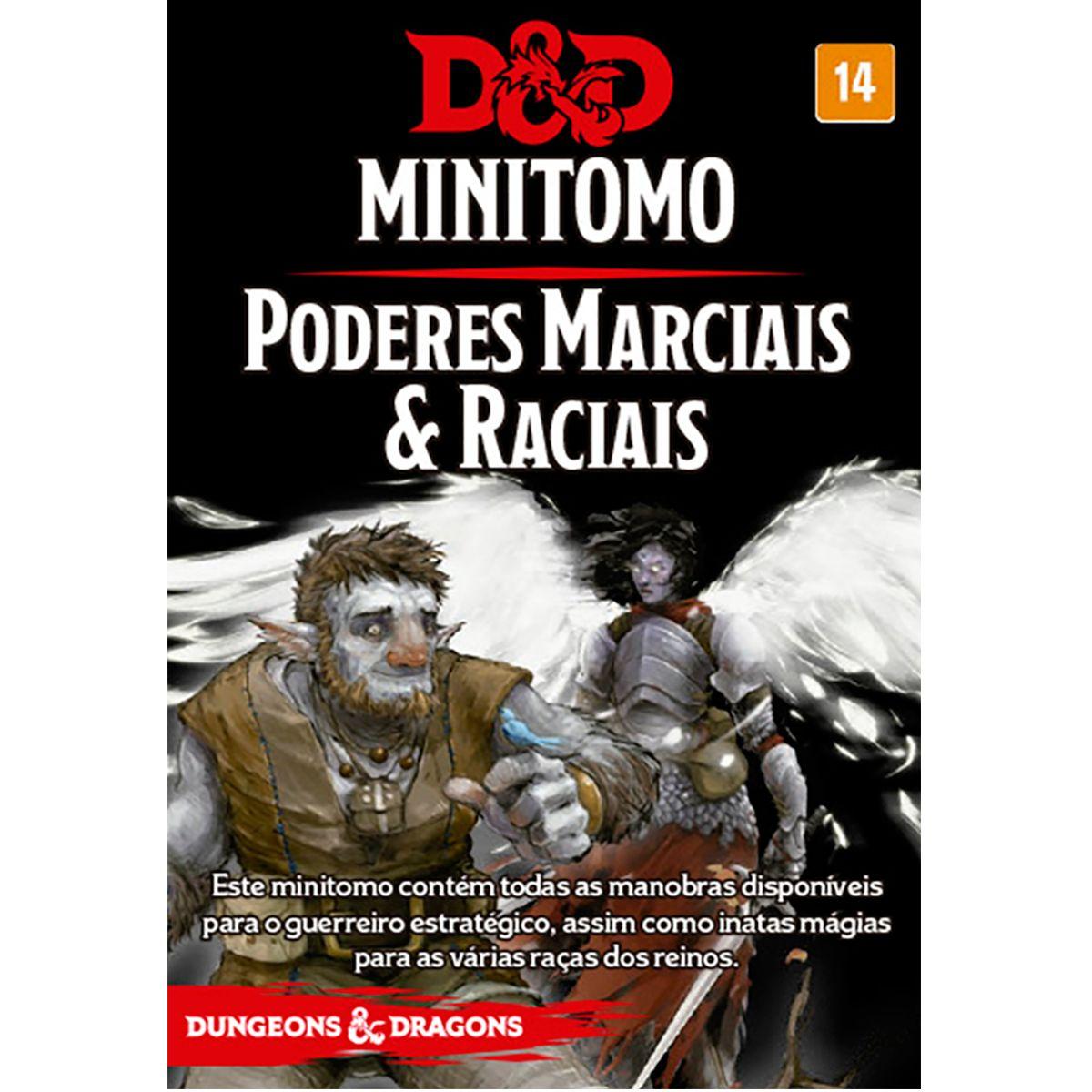 Dungeons and Dragons MInitomo Poderes Marciais e Raciais Deck RPG