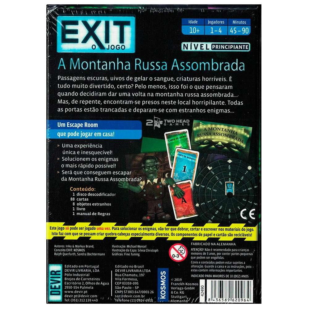 Exit A Montanha Russa Assombrada Jogo Escape Room