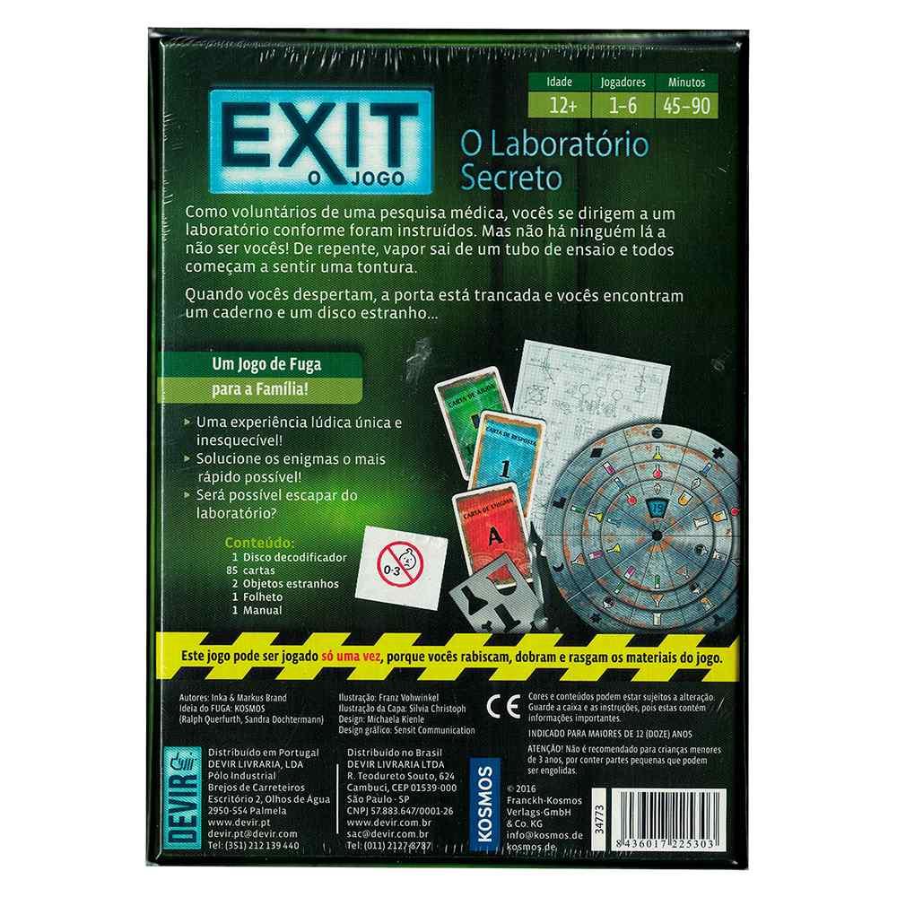 Exit O Jogo O Laboratório Secreto
