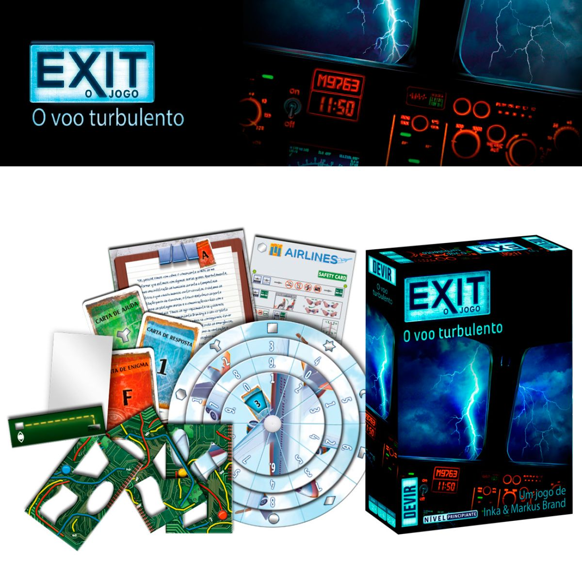 Exit O Voo Turbulento Scape Room
