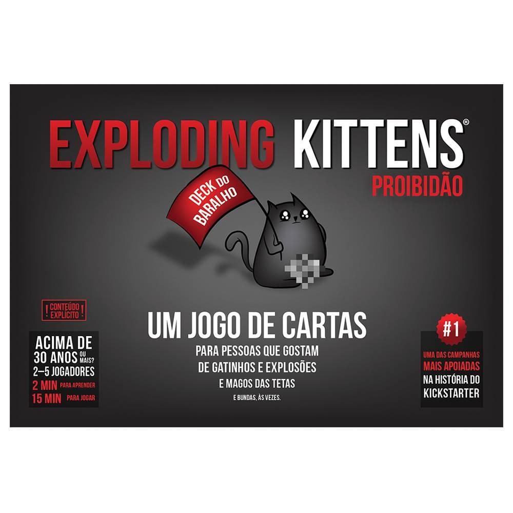 Exploding Kittens Proibidão Jogo de Cartas