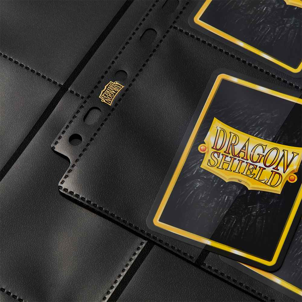 Folhas para Fichario Dragon Shield 18-Pocket Preto Fosco