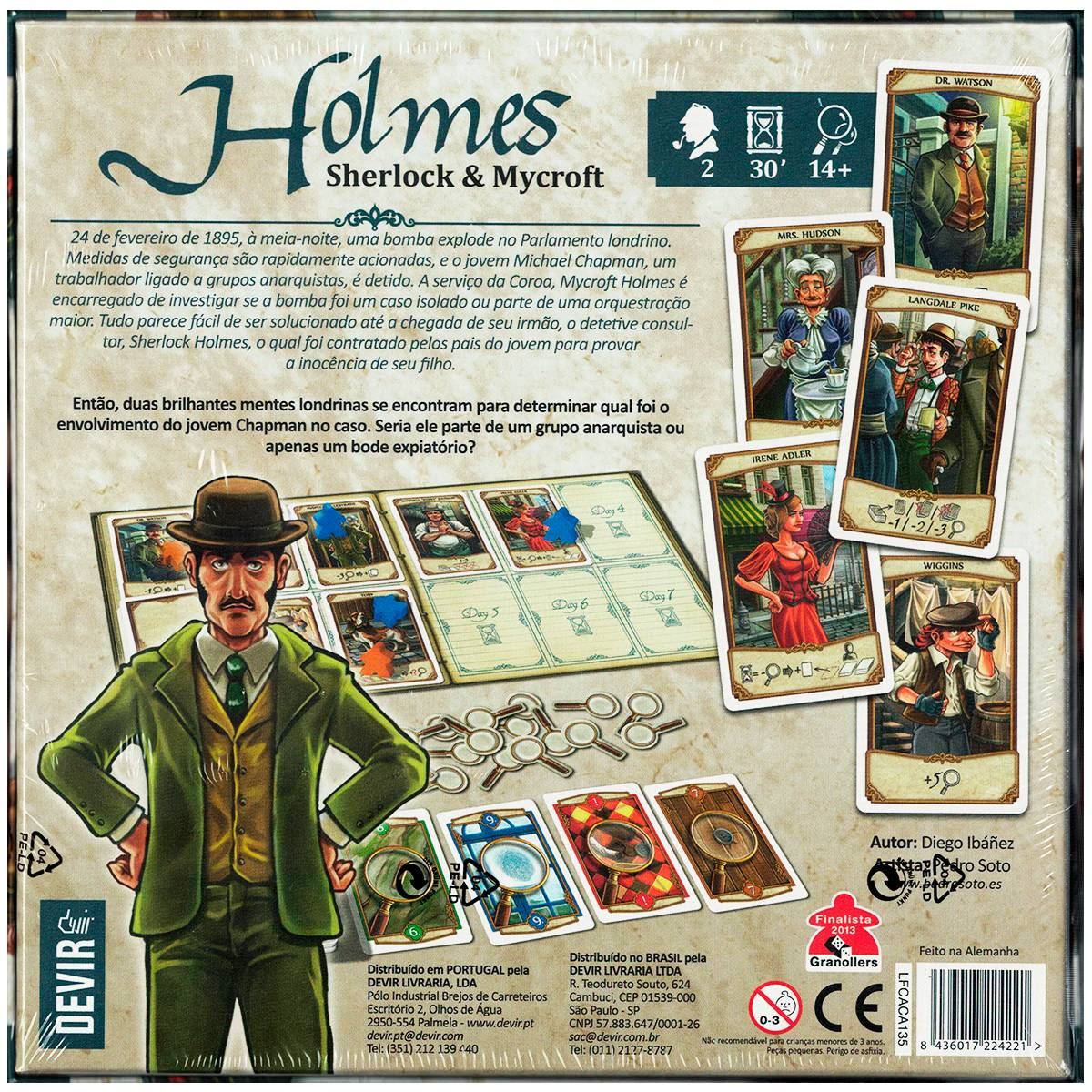 Holmes Sherlock Mycroft  Jogo de Tabuleiro Devir