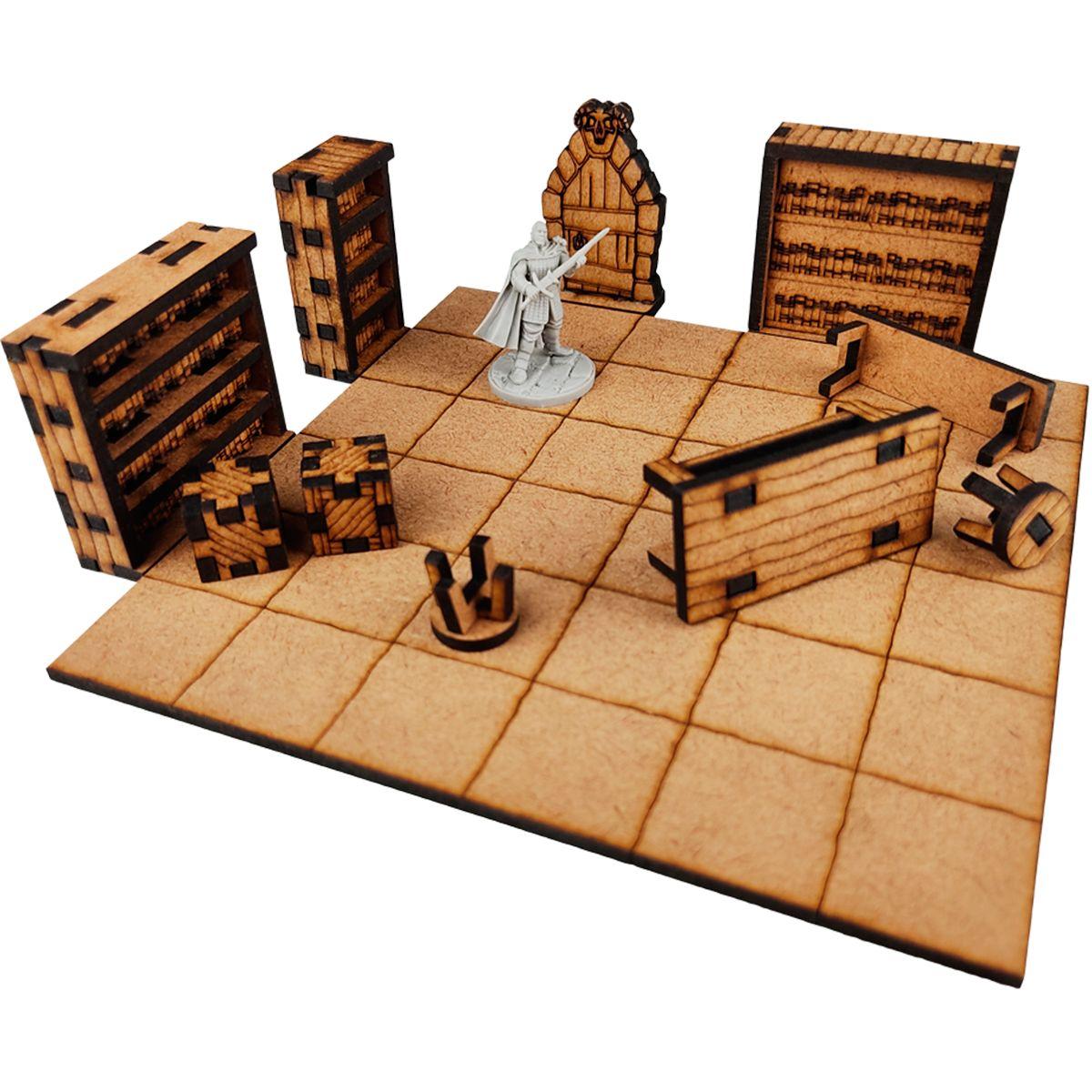 Kit de Mobílias Para Cenário RPG Bucaneiros