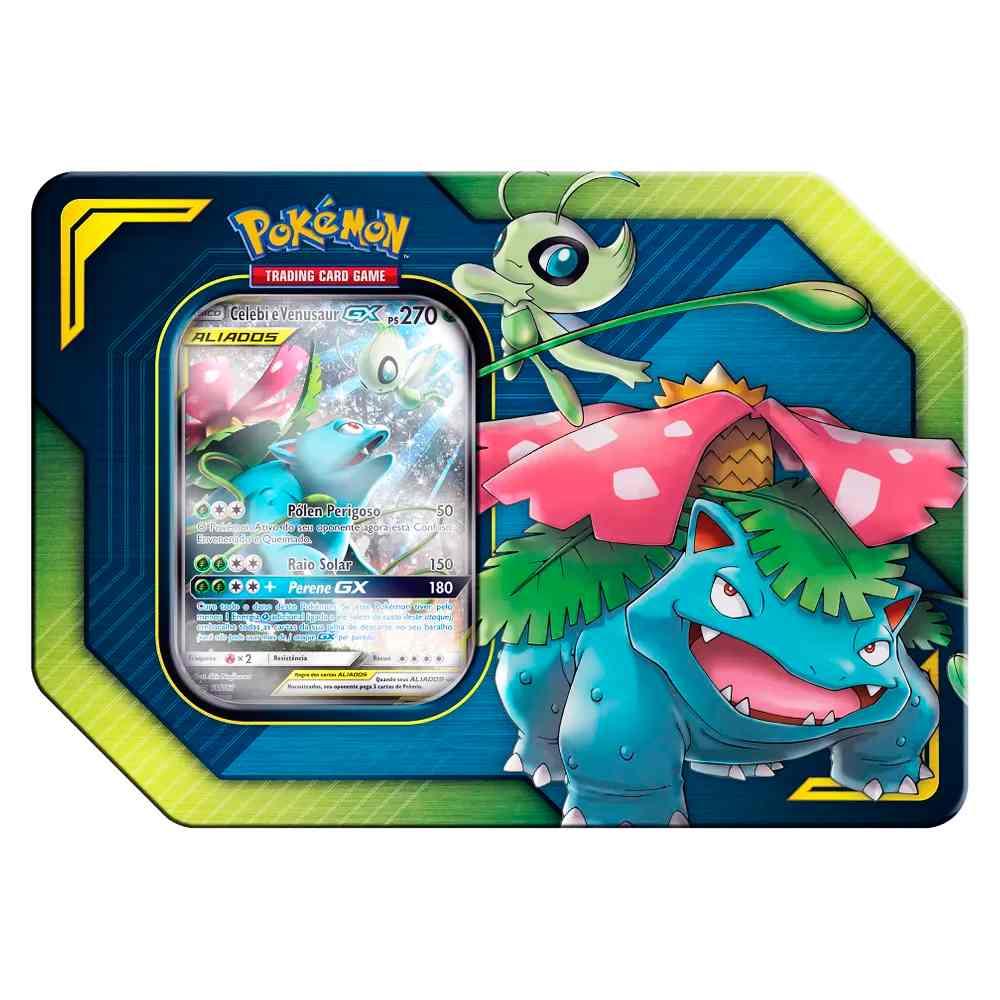 Lata Pokemon Aliados Gx Venusaur e Celebi