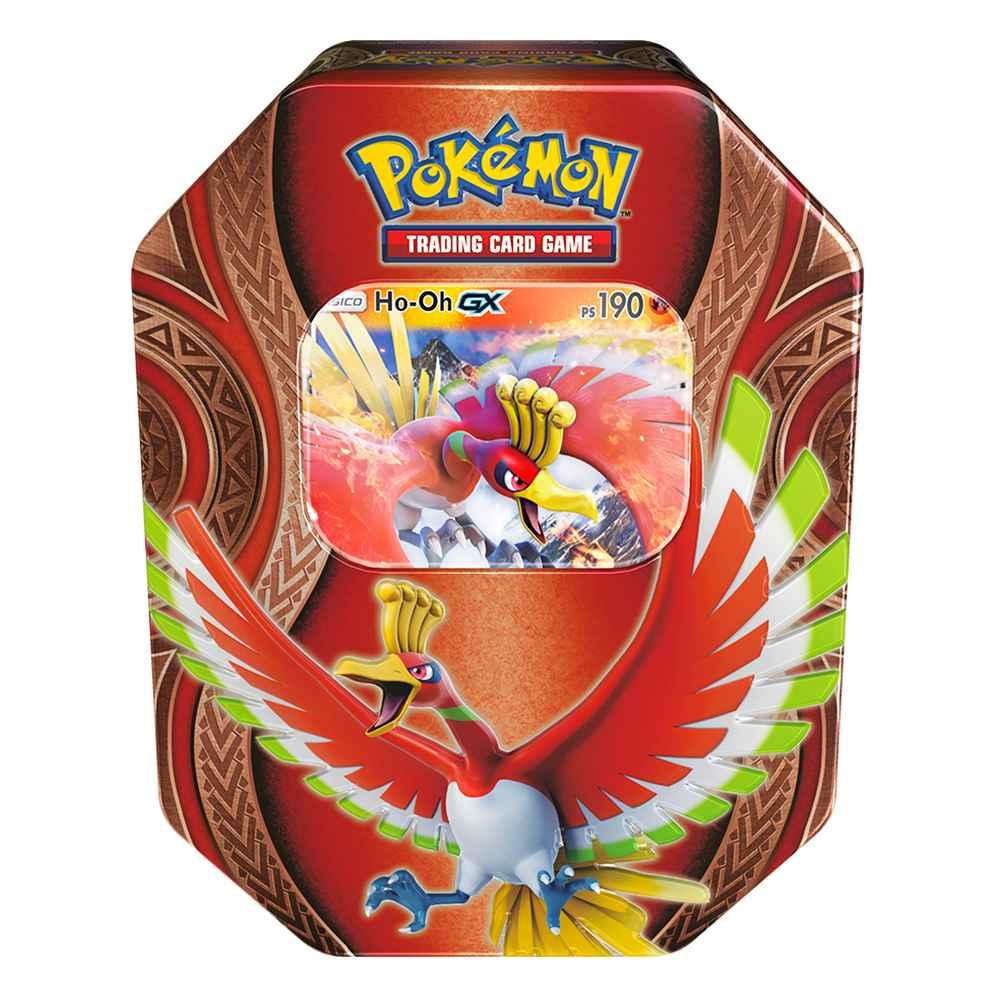 Lata Pokemon Ho Oh GX Poderes Misteriosos Sol e Lua