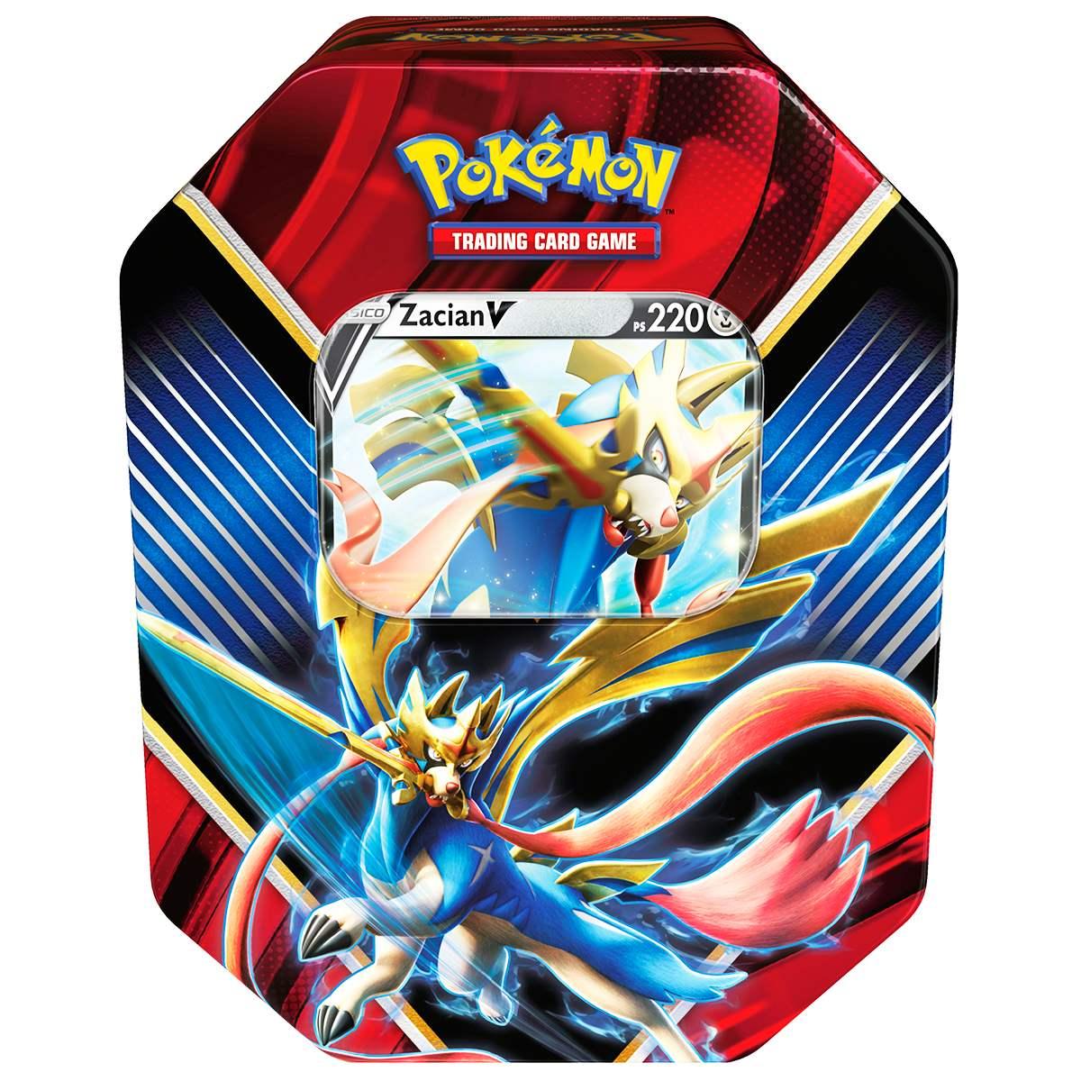 Lata Pokemon Lendas de Galar Zacian V