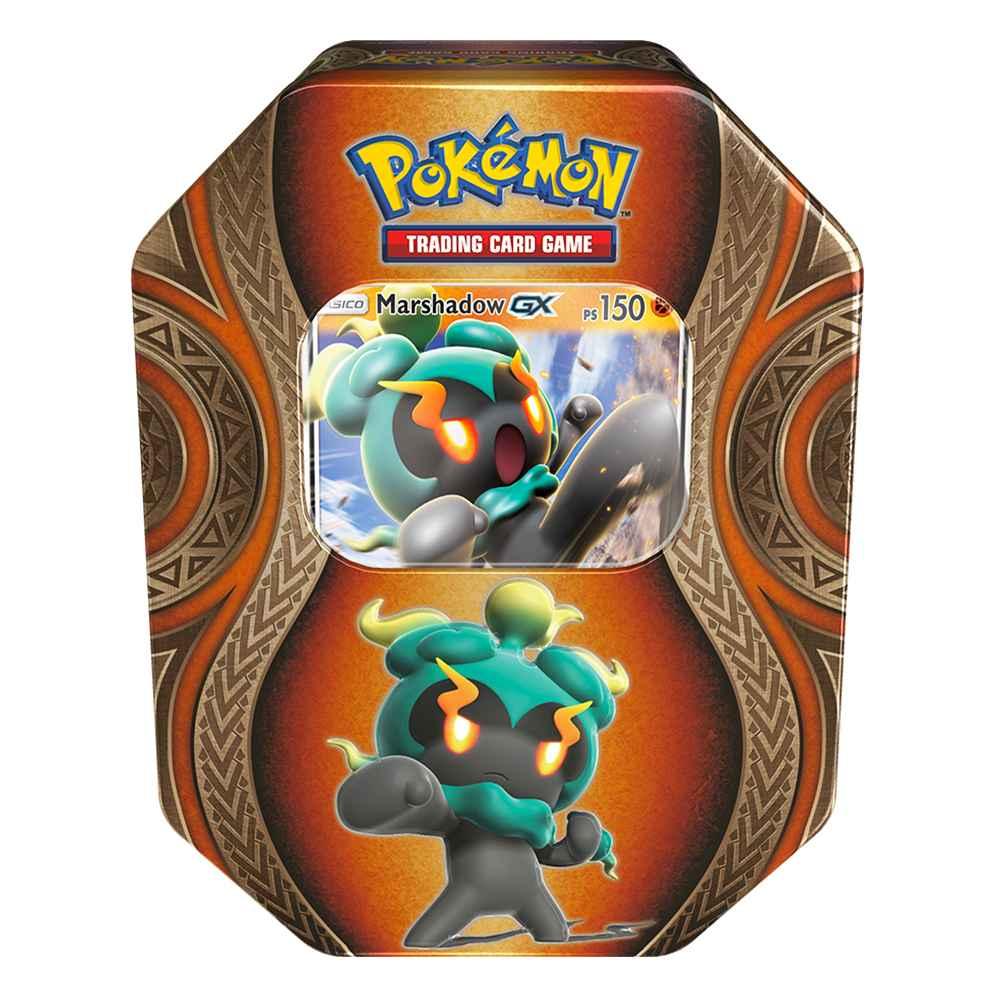 Lata Pokemon Marshadow GX Poderes Misteriosos Sol e Lua