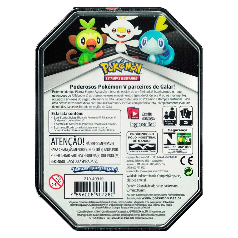 Lata Pokemon Parceiros de Galar Inteleon V