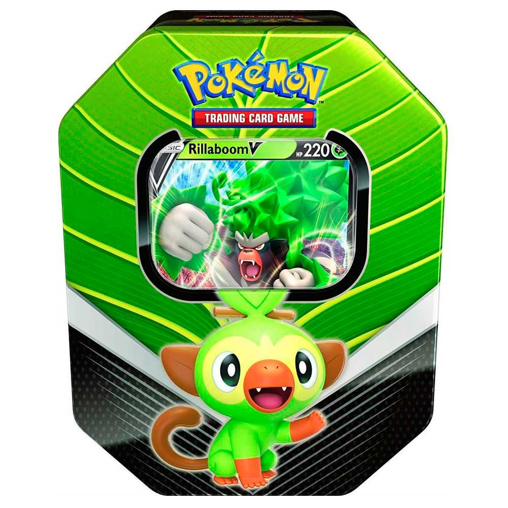 Lata Pokemon Parceiros de Galar Rillaboom V