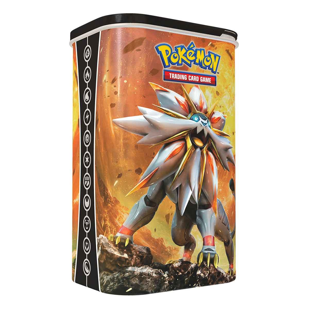 Lata Porta Card Solgaleo Pokemon Treinador Elite