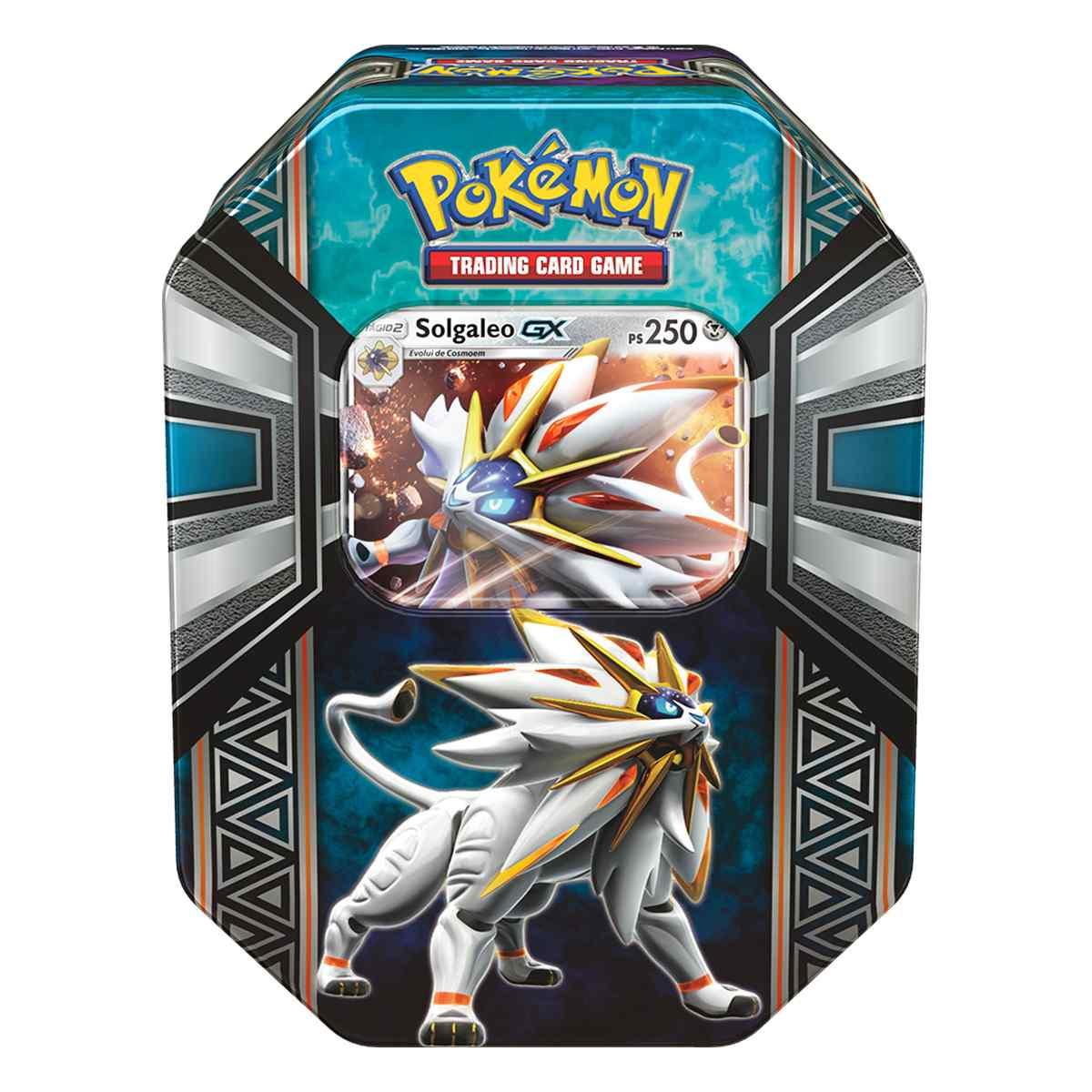 Latas Pokemon Lendas de Alola Solgaleo GX Sol e Lua