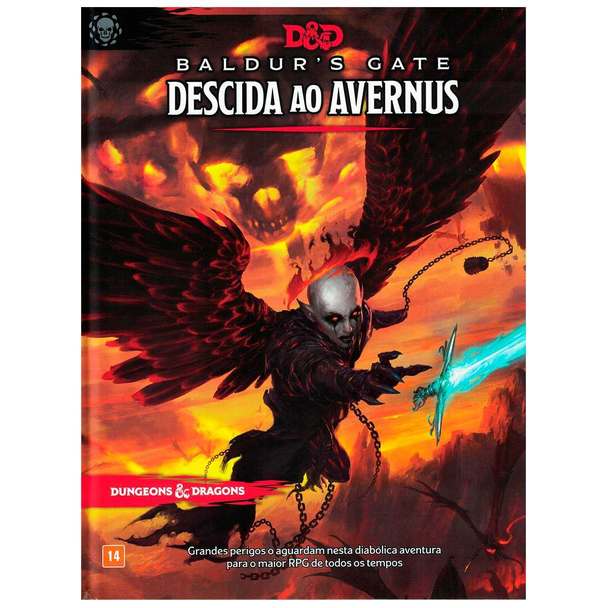 Livro Dungeons Dragons Baldur s Gate - Descida ao Avernus