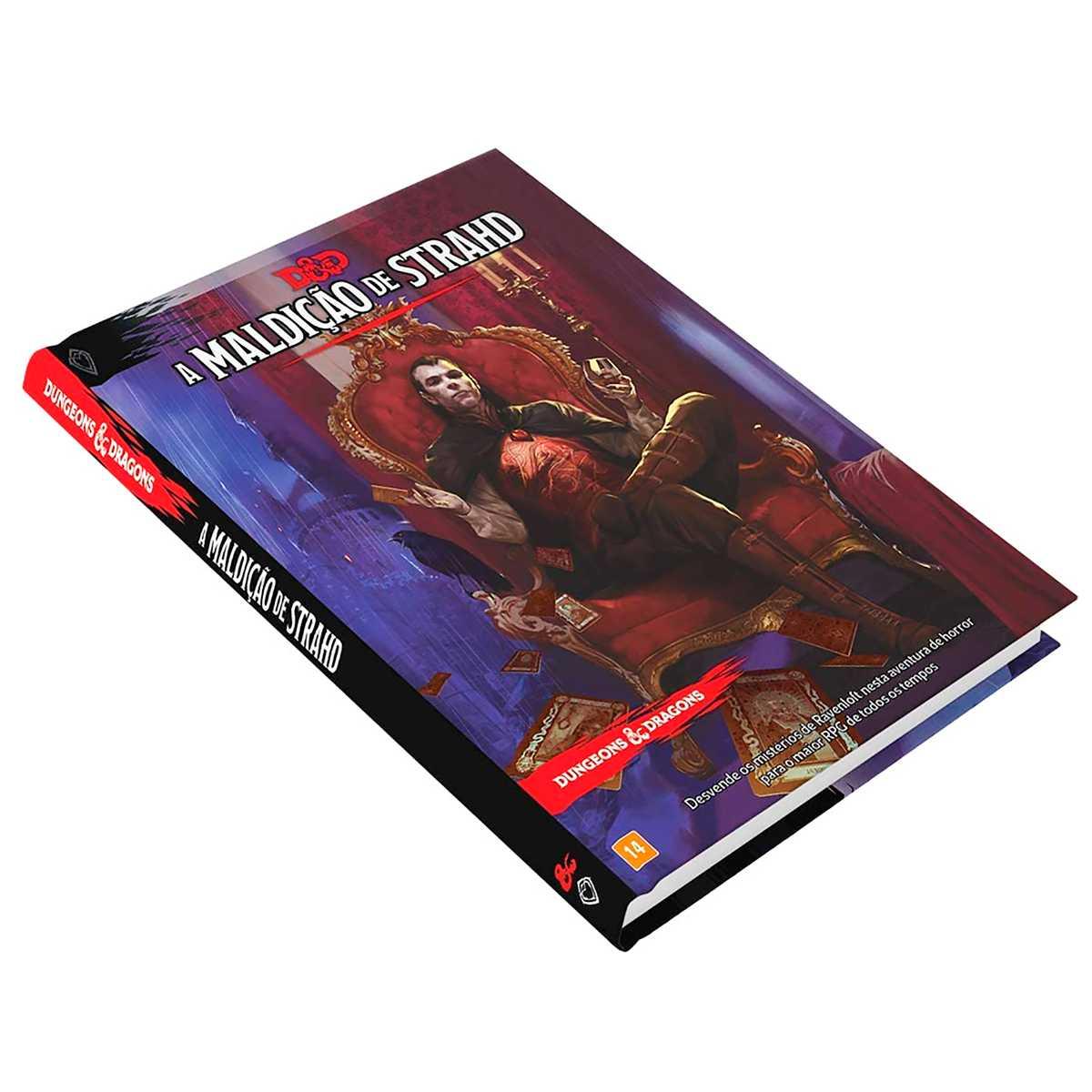 Livro Dungeons Dragons Curse of Strahd - A Maldição de Strahd