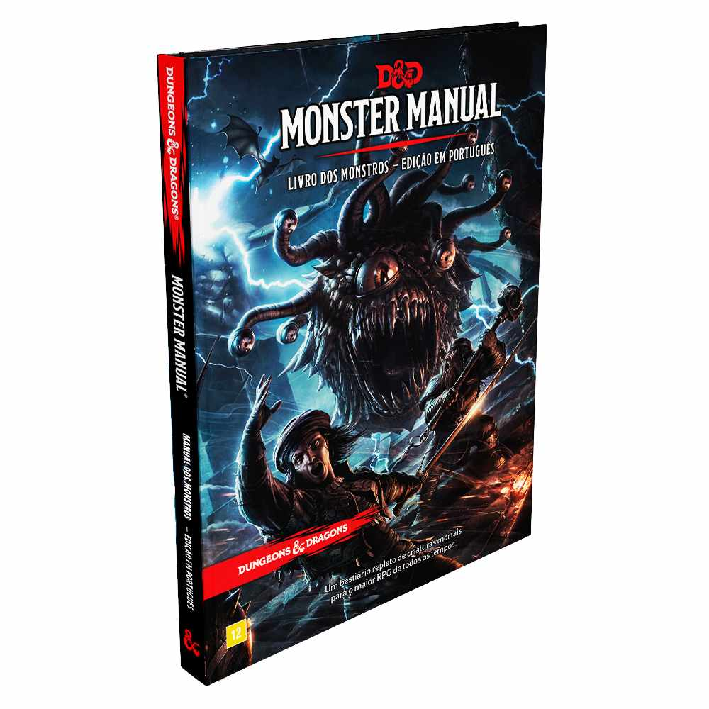 Livro Dungeons Dragons Monster Manual - Manual dos Monstros