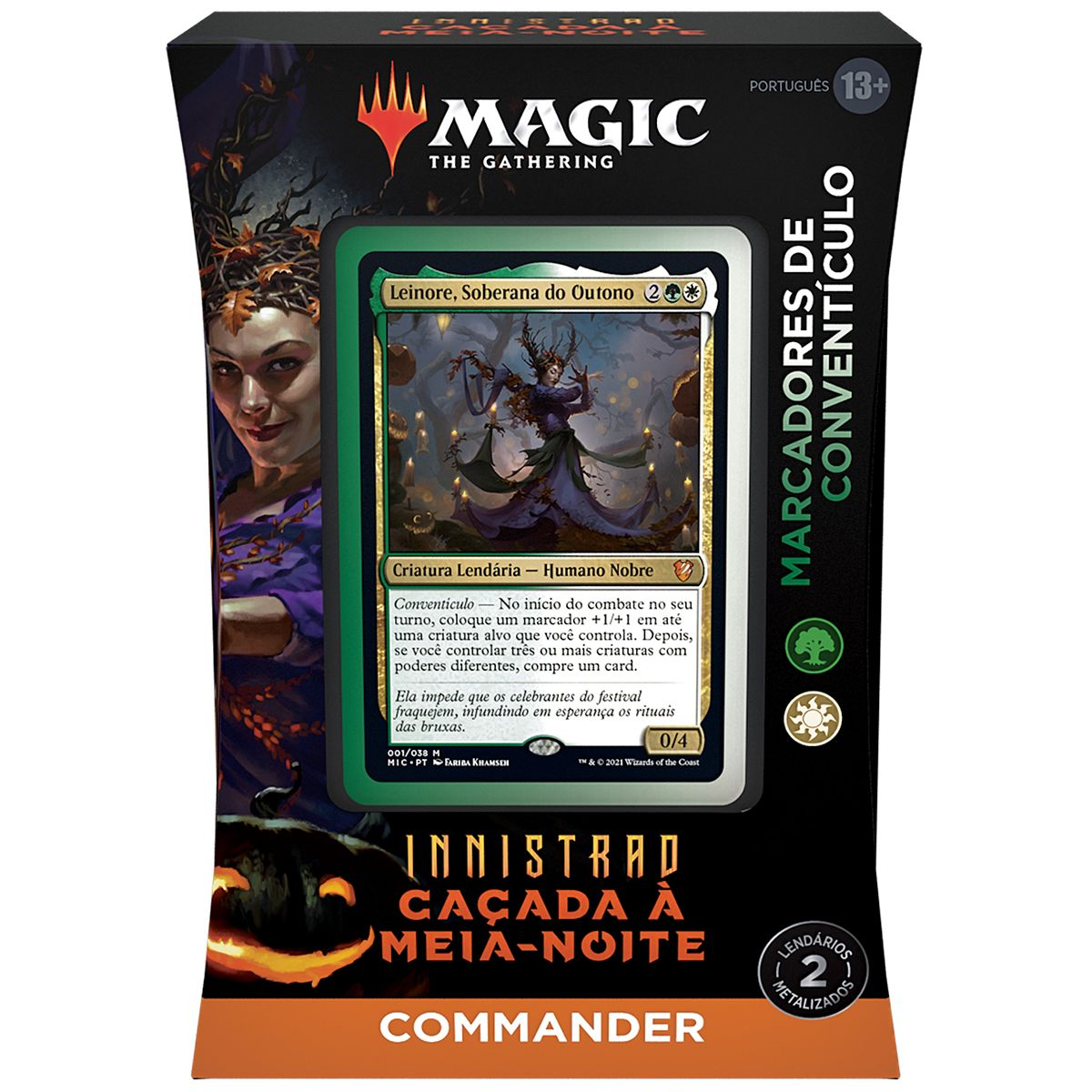 Magic Deck Commander Innistrad Caçada A Meia-Noite Leinore