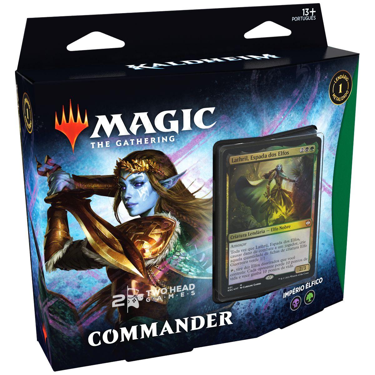 Magic Deck Commander Kaldheim Império Élfico Lathril