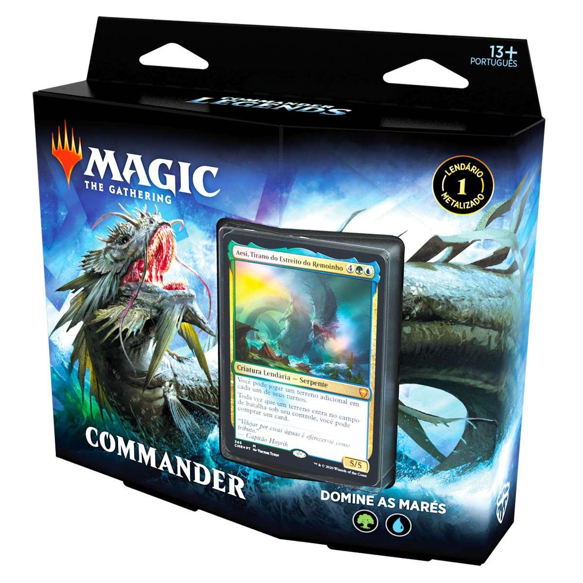 Magic Deck Commander Legends Domine As Marés Aesi