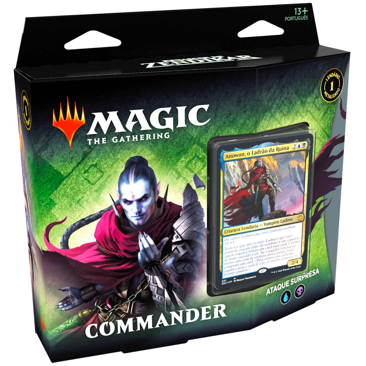 Magic Deck Commander Renascer Zendikar Ataque Surpresa Anowon