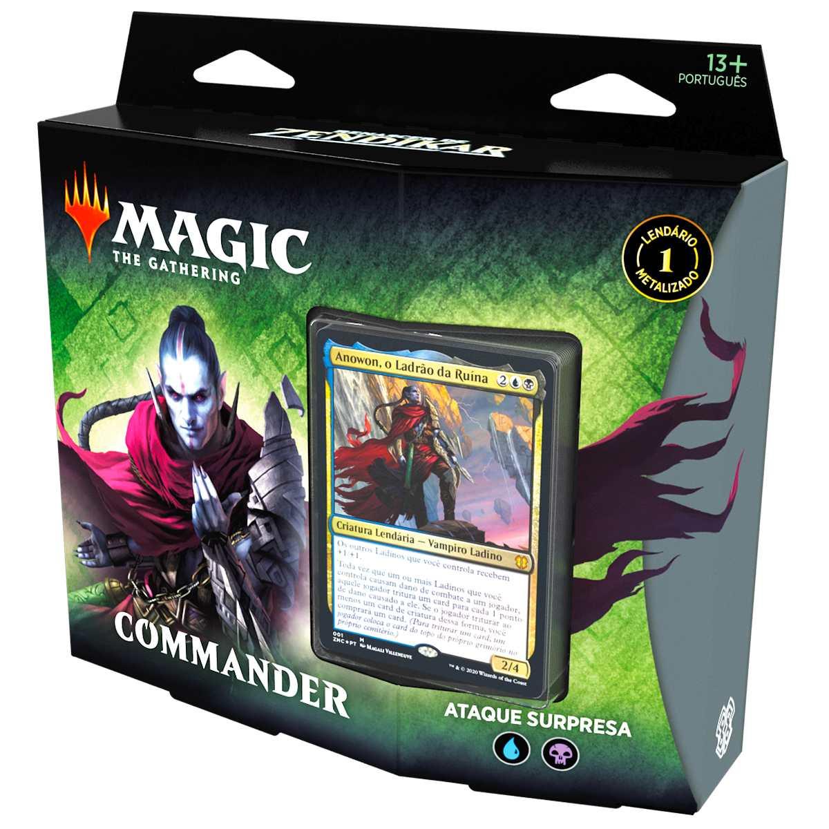 Magic Deck Commander Renascer Zendikar Ataque Surpresa Anowon