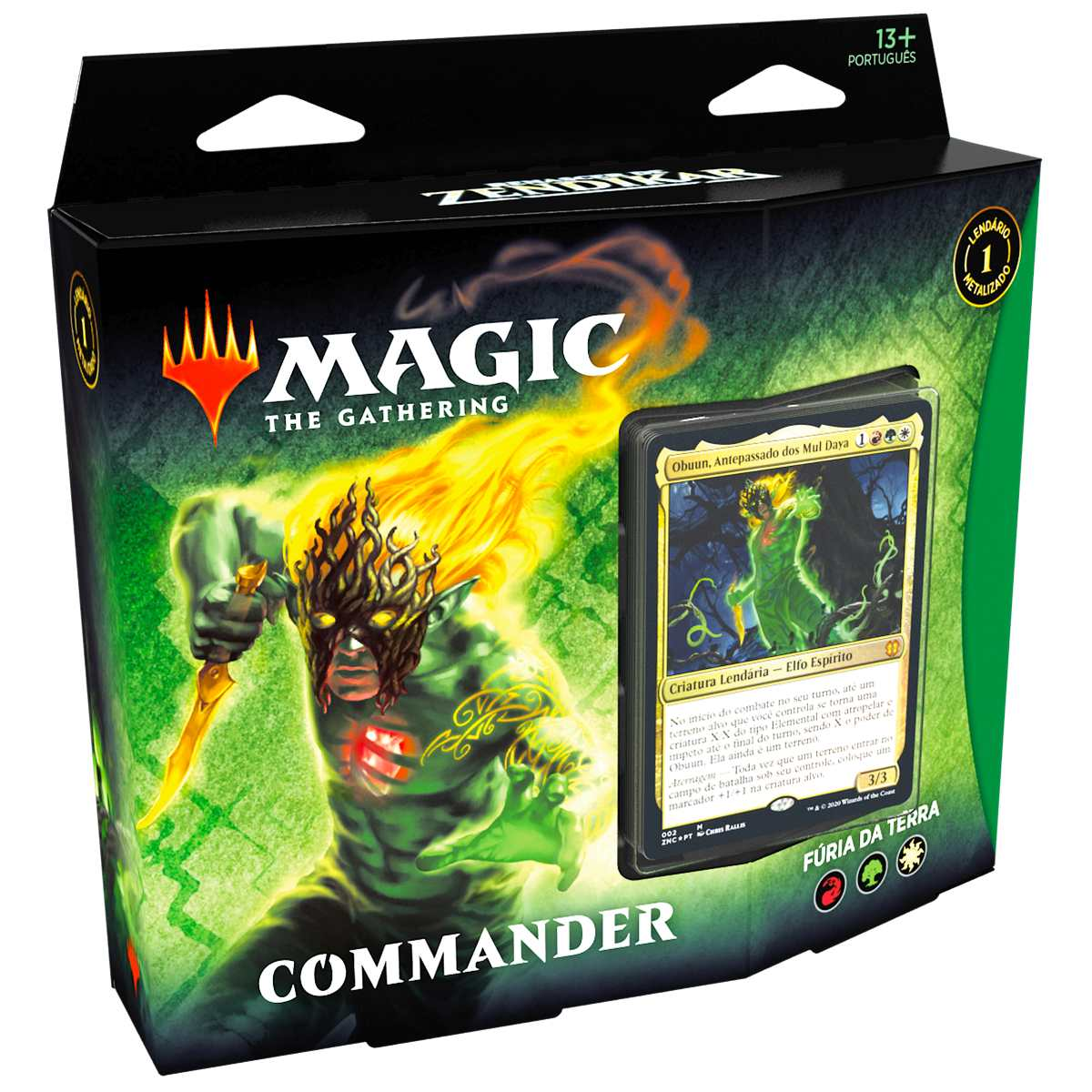 Magic Deck Commander Renascer Zendikar Fúria da Terra Obuun