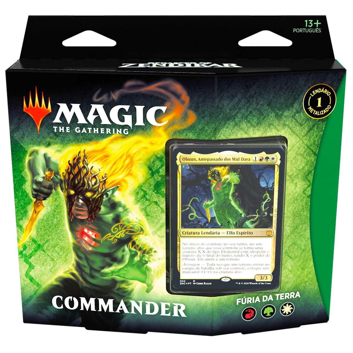 Magic Deck Commander Renascer Zendikar Fúria da Terra Obuun