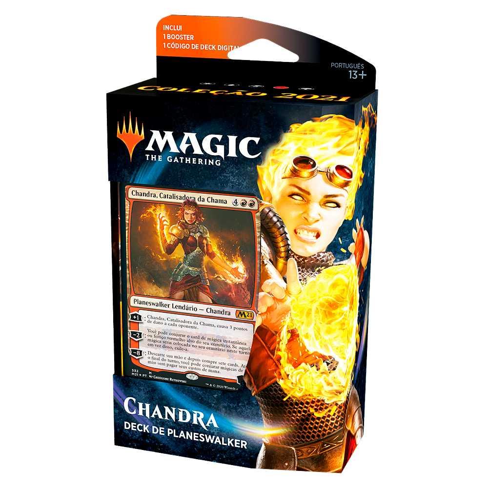 Magic Deck Planeswalker Chandra Coleção Básica 2021 Core M21