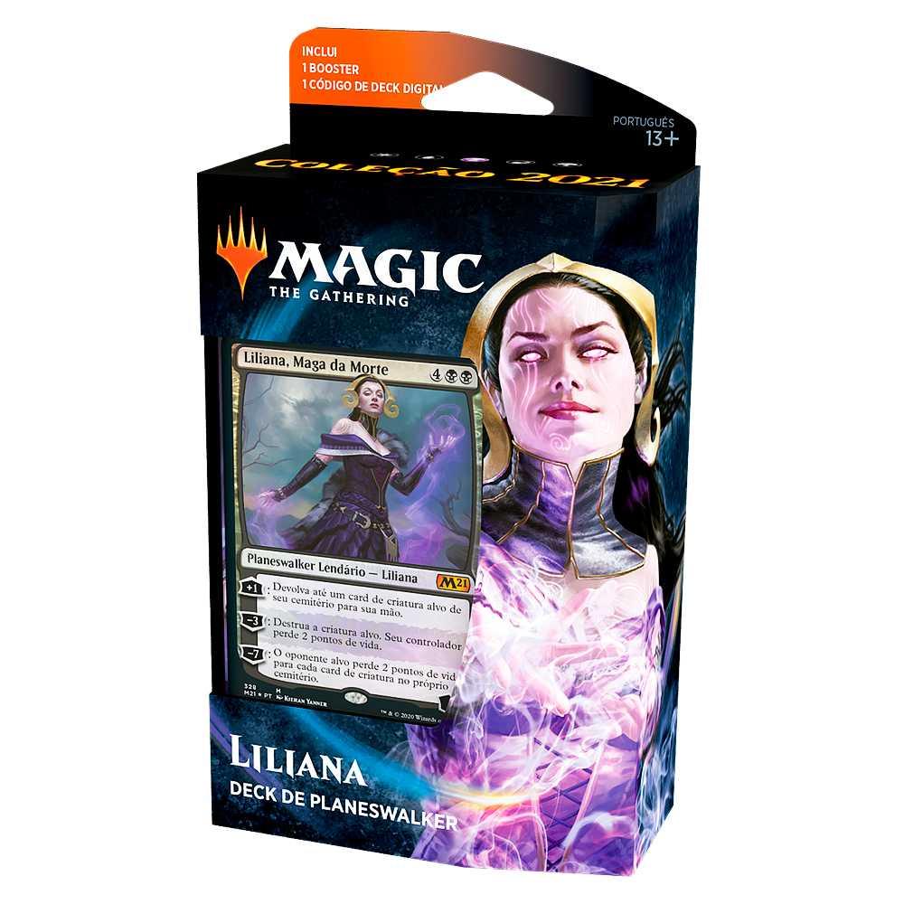 Magic Deck Planeswalker Liliana Coleção Básica 2021 Core M21