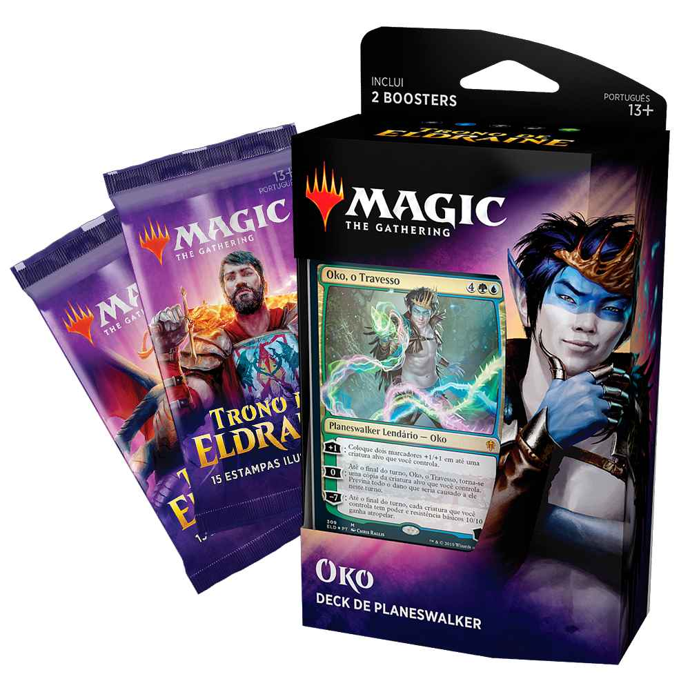 Magic Deck Planeswalker Oko Trono de Eldraine Throne
