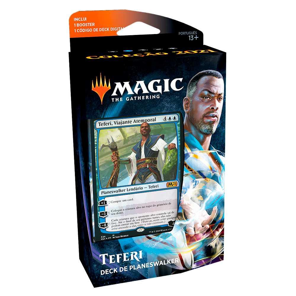 Magic Deck Planeswalker Teferi Coleção Básica 2021 Core M21