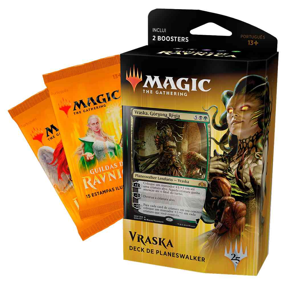 Magic Deck Planeswalker Vraska Guildas de Ravnica Guilds