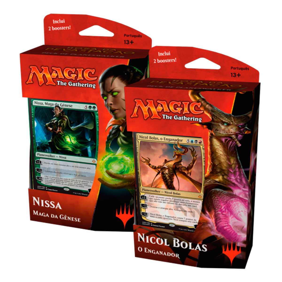 Magic Hora da Devastação Deck Planeswalker Nicol e Nissa