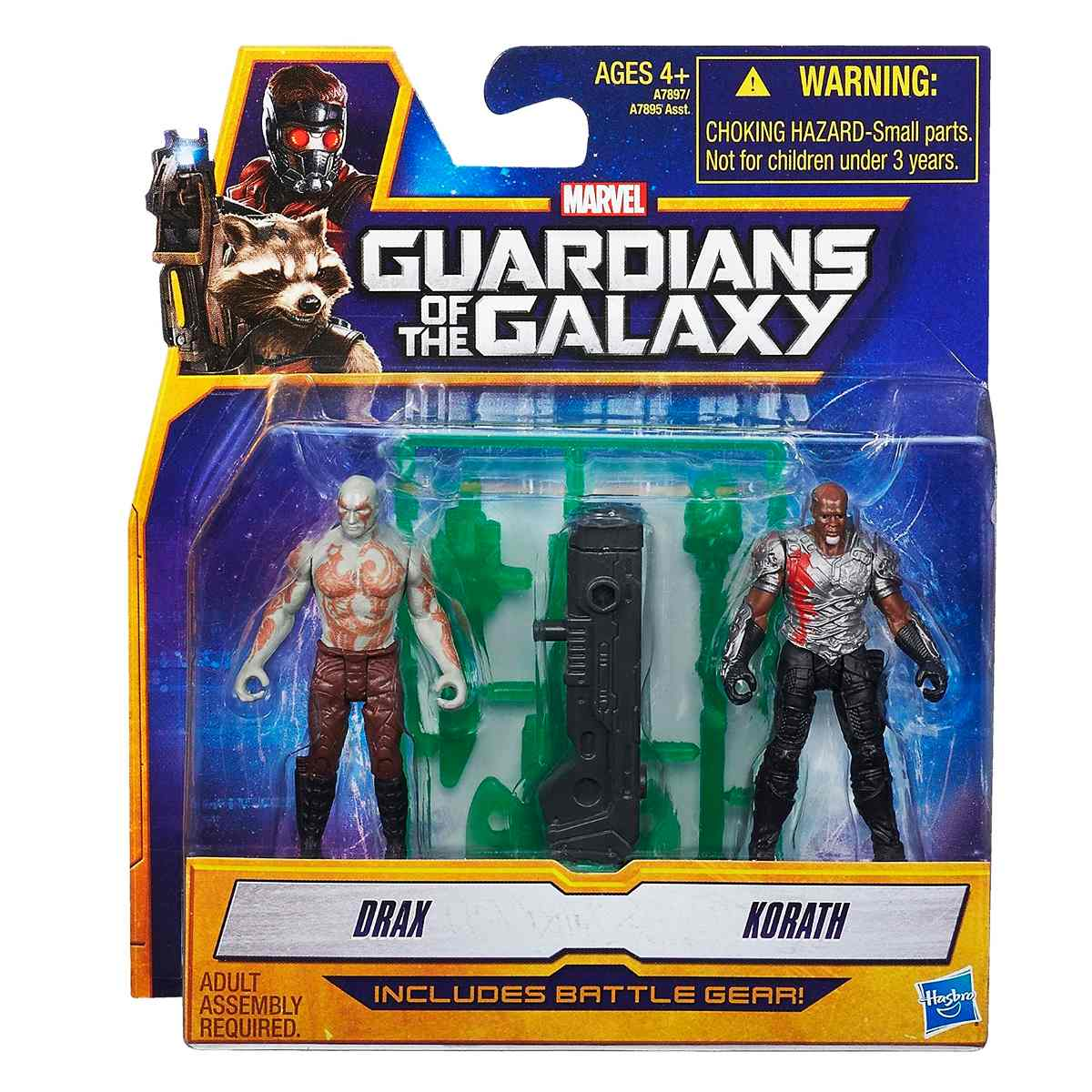Marvel Guardians of The Galaxy Drax and Korath Figure