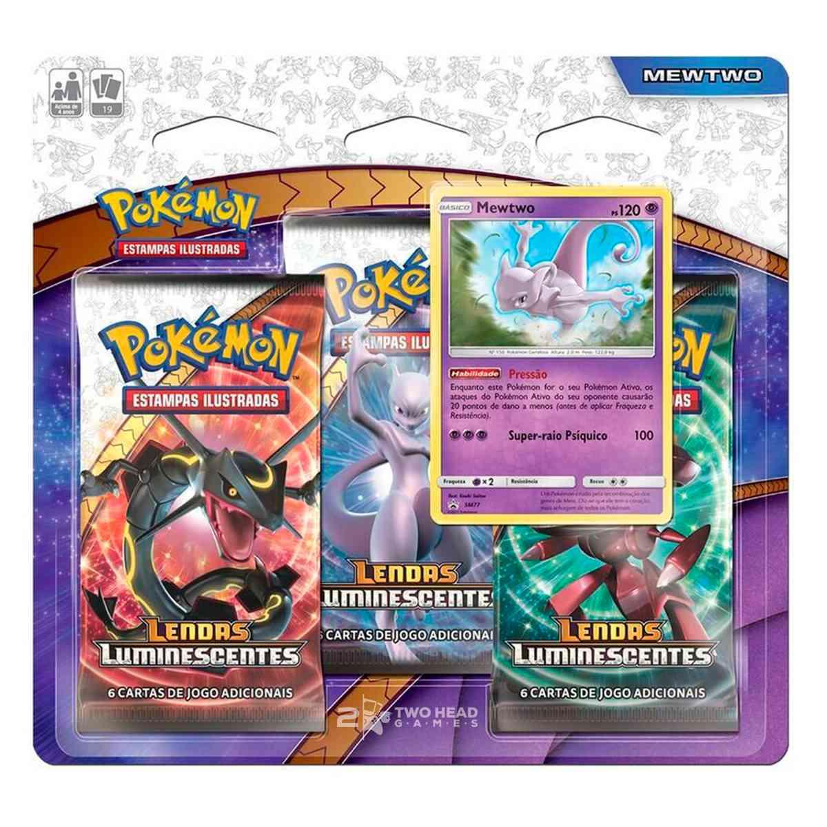 Mewtwo Lendas Luminescentes Pokemon Triple Pack