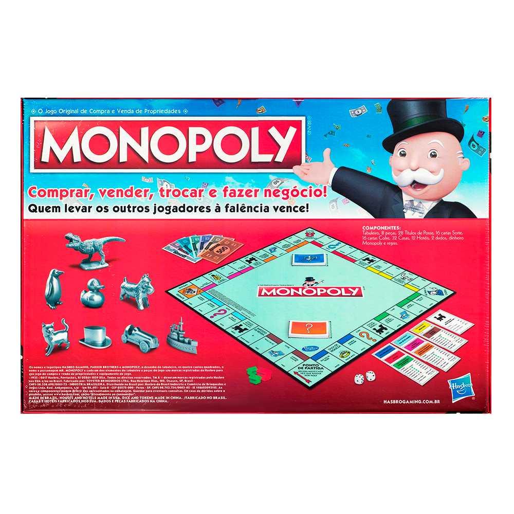 Monopoly Clássico Jogo de Tabuleiro