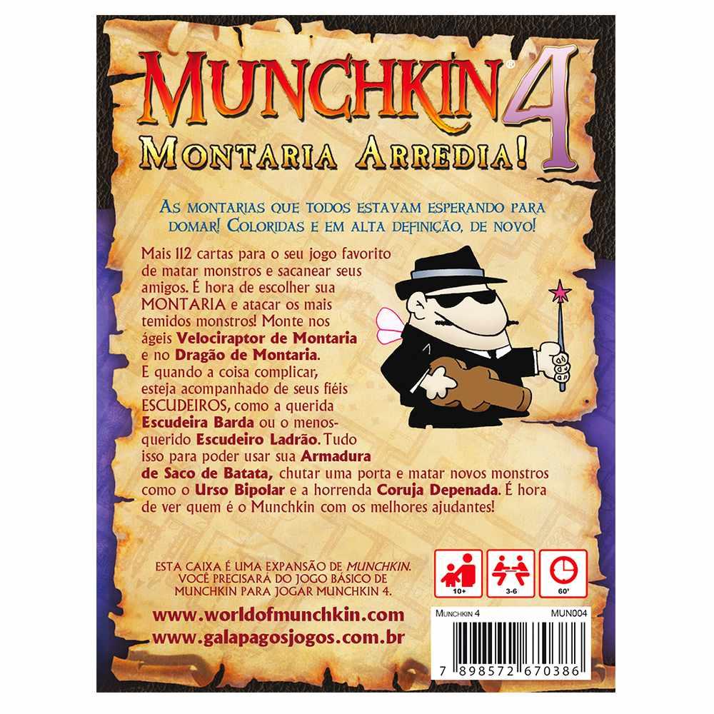 Munchkin 4 Montaria Arredia Expansão Jogo de Cartas