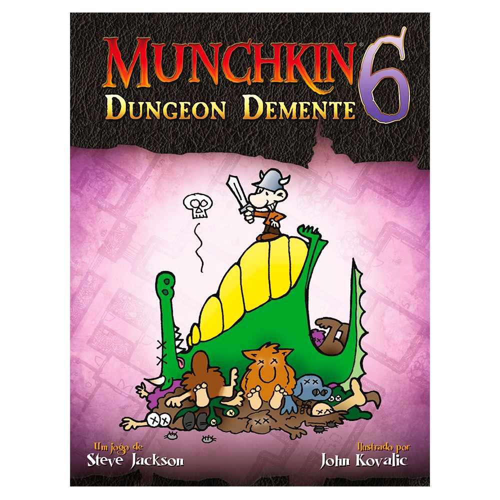 Munchkin 6 Dungeon Demente Expansão Jogo de Cartas