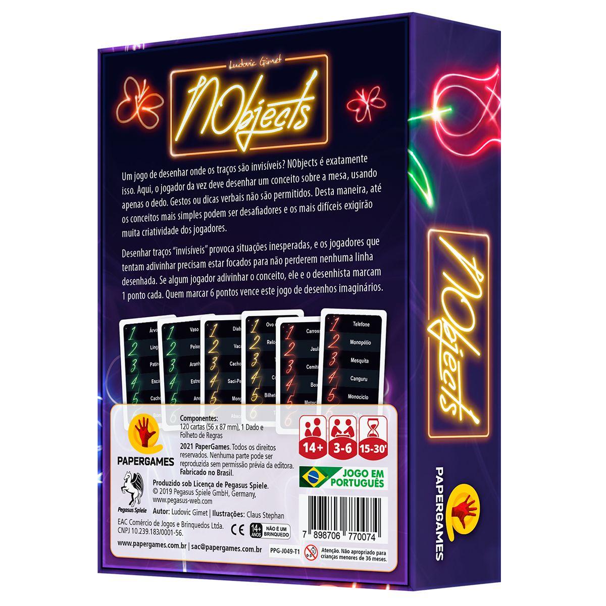 NObjects Jogo de Cartas Paper Games