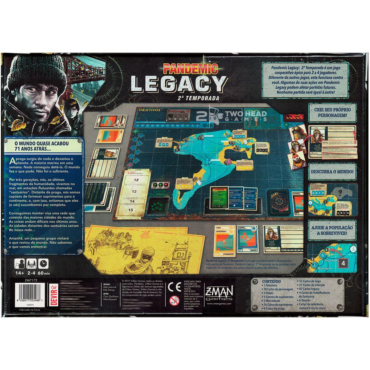 Pandemic Legacy 2ª Temporada Black Jogo de Tabuleiro Devir