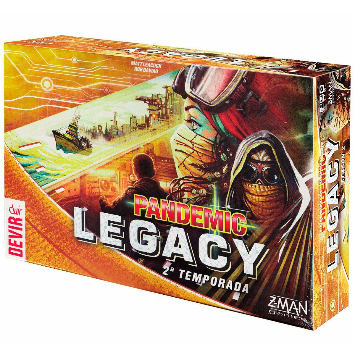 Pandemic Legacy 2ª Temporada Yellow Devir Jogo de Tabuleiro