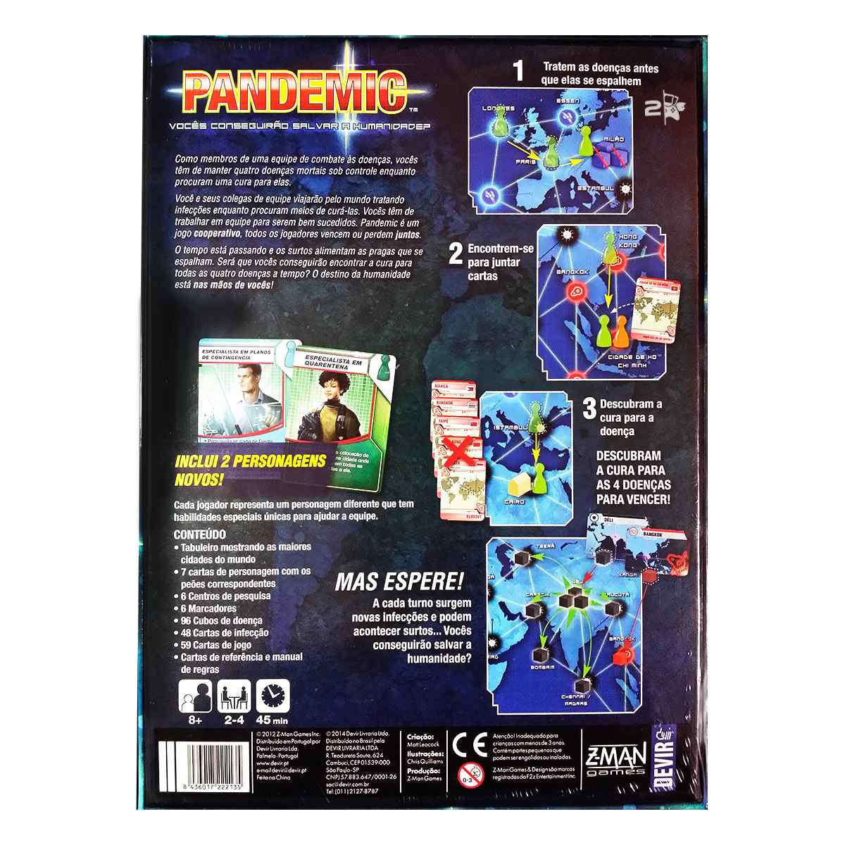 Pandemic Segunda Edição Jogo De Tabuleiro