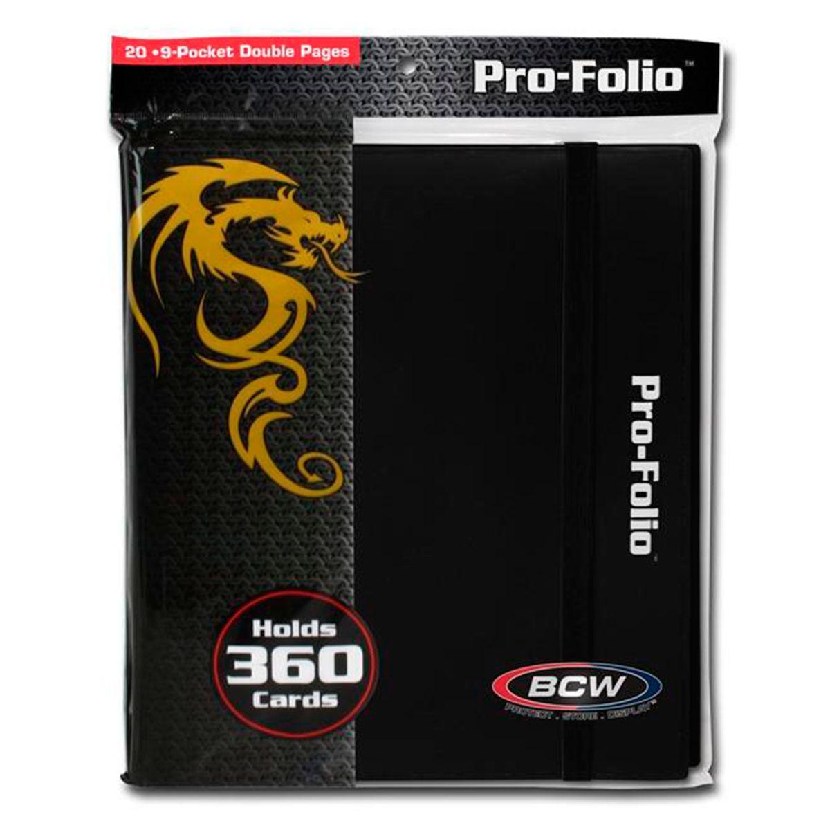 Pasta Pro-Folio BCW 9 Bolsos 20 Folhas duplas - Preto