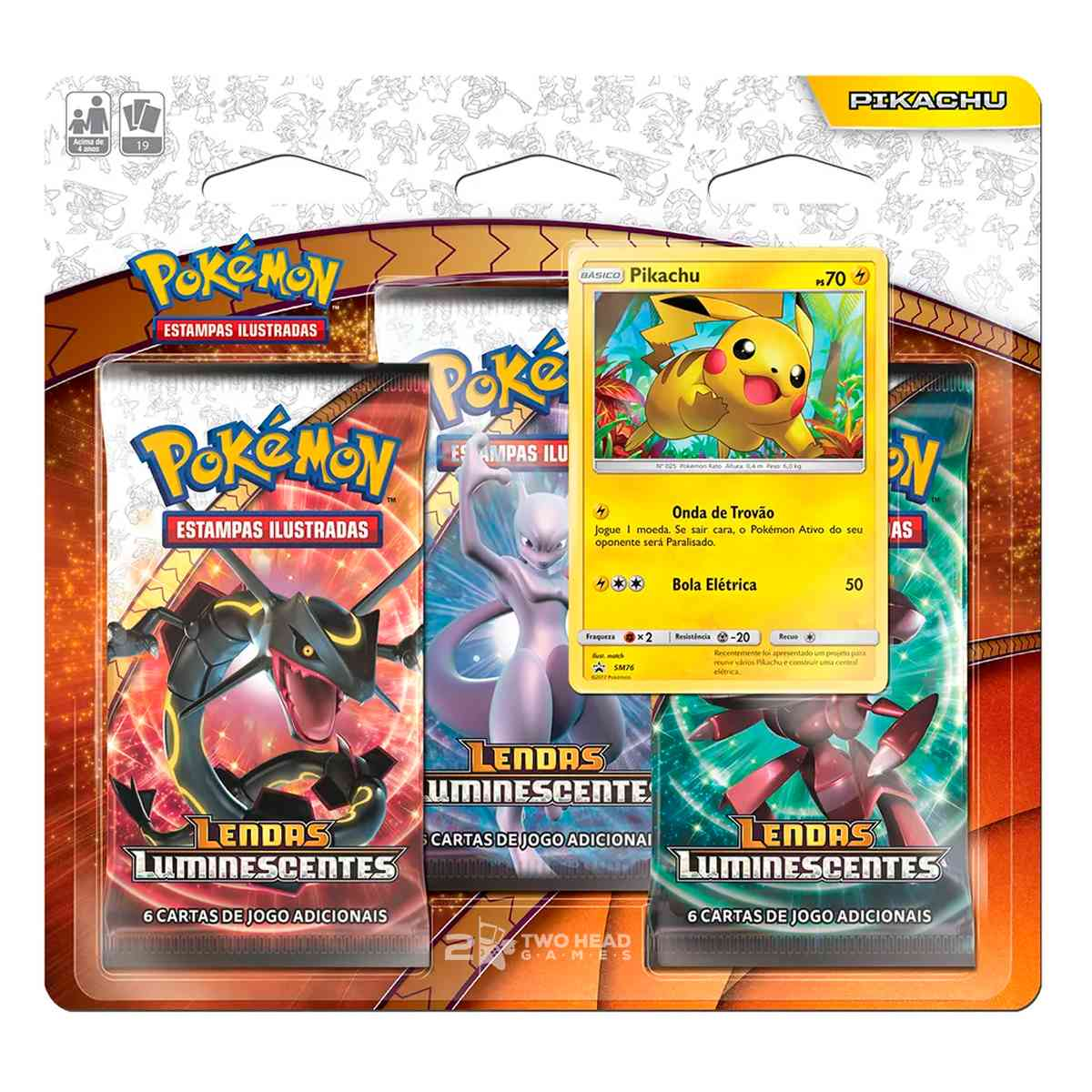 Pikachu Lendas Luminescentes Pokemon Triple Pack