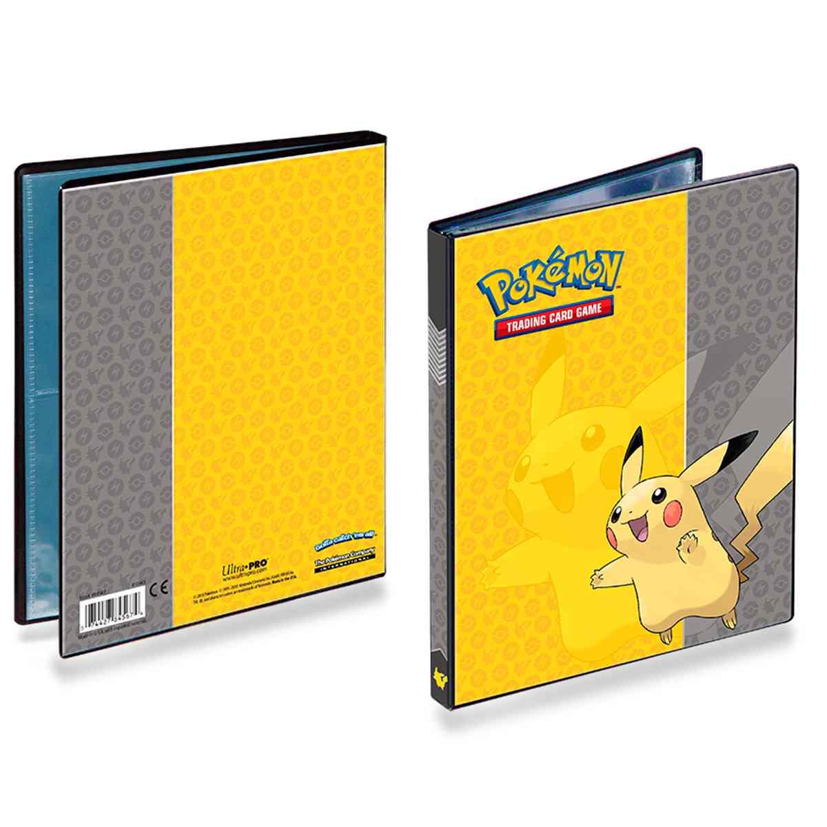 Pokemon Album Pikachu Ultra Pro 4 Bolsos 10 Folhas